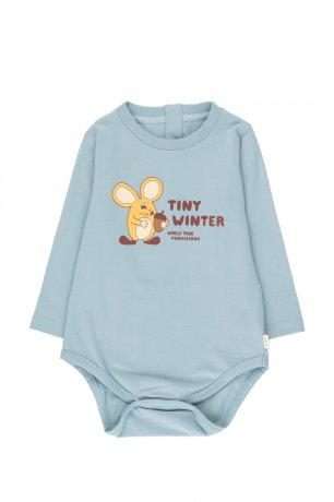 """tinycottons / """"MOUSE"""" BODY / warm grey/yellow / AW20-039"""