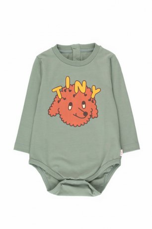 "[vol.2] tinycottons / ""TINY DOG"" BODY / dark pistacchio/sienna / AW20-038"