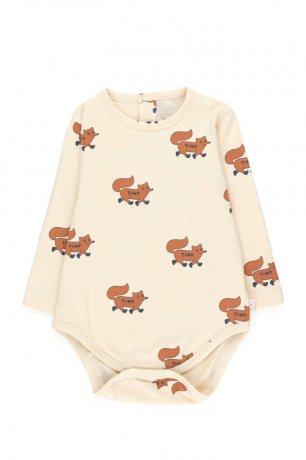 """tinycottons / """"FOXES"""" BODY / cream/brown / AW20-002"""