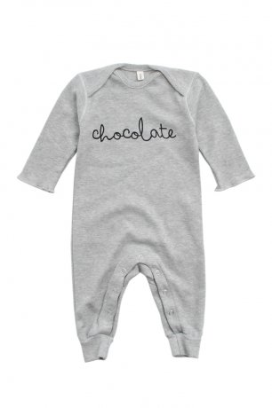 Organic Zoo / Playsuit / Grey Melange Chocolate