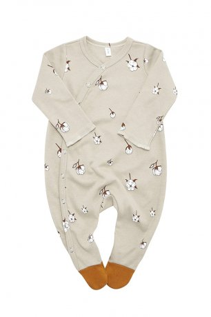 Organic Zoo / Suit w contrast feet / Cotton Field