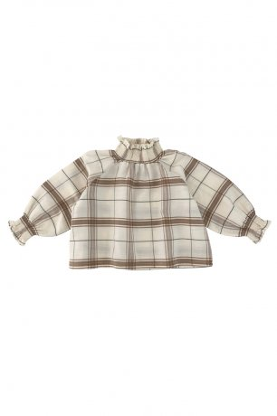 Liilu / Smocked Blouse / Chenille check [6y 8y]