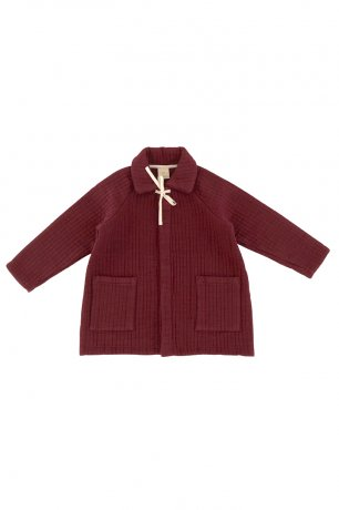 Liilu / Quilted Coat / Berry red