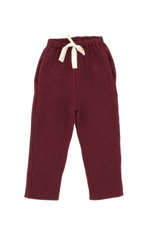 Liilu / Quilted Pants / Berry red
