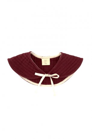 Liilu / Quilted Collar / Berry red