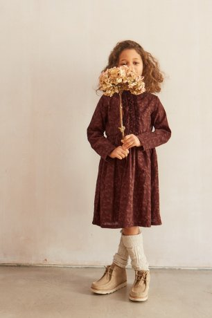 Omibia / ESTELLA Dress Child / Earth Print - Auburn / AW20W23