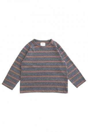 PLAY UP / Striped Jersey Sweater / RASP / 3AH11356