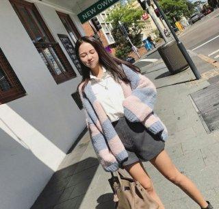 韓国ニットカーディガン❤ショート丈だから着やすい♪ニットカーディガン