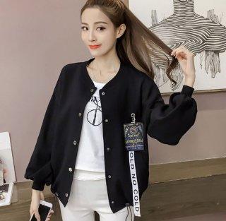 韓国ブルゾン❤メンズライクだけど袖がふんわり女の子っぽい♪ブルゾン