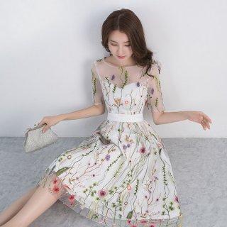 韓国ワンピース❤透明感あふれる♪花柄が綺麗なワンピース