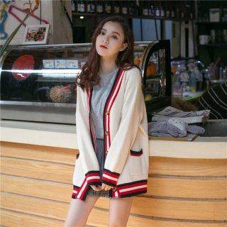 韓国カーディガン❤スクールガールっぽい♪ゆったり着れるカーディガン