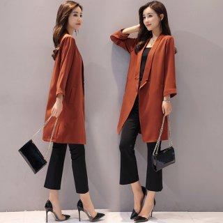 韓国コート❤トロンとした素材で軽やかに着られる♪コート