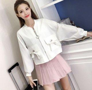 韓国ブルゾン❤ショート丈でドルマンスリーブが女の子らしい♪ブルゾンジャケット