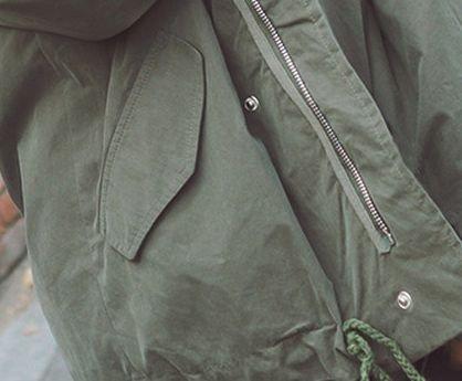 韓国アウター・ジャケットのミリタリーコート・ミリタリージャケット