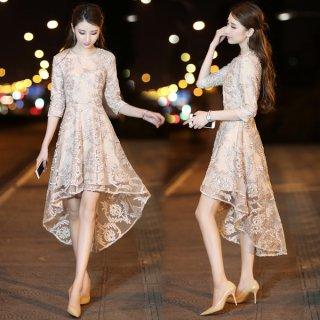 韓国即納有ワンピース❤上品な装いでフィッシュテールがオシャレ♪ワンピース