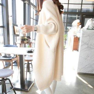 韓国ロングカーディガン❤ドルマンスリーブだからゆったり着られる♪ロングカーディガン