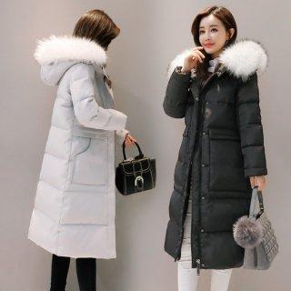 韓国ダウンコート❤フードの白いファーが素敵❤防寒ダウンジャケット