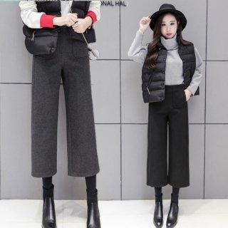 韓国ガウチョパンツ❤脚が綺麗に長く見える♪ガウチョパンツ