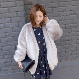 韓国ボアジャケット❤ふわもこでガーリーに可愛く着こなして♪ボアジャケット