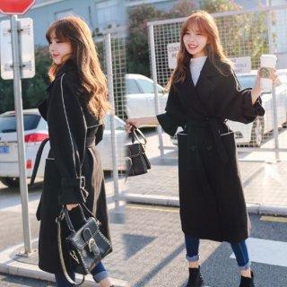 韓国チェスターコート❤白いラインが少しカジュアルに見せてくれる♪ロングコート