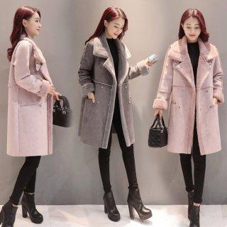 韓国ボアコート❤襟が大きめで大人っぽい!清楚感もあるコート