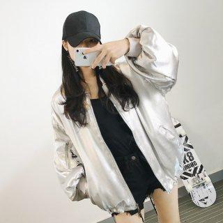 韓国ブルゾン❤袖のふんわりがハード感を優しくしてくれる♪ブルゾンジャケット