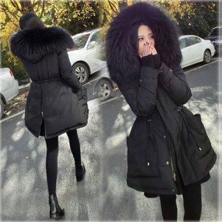 韓国ファーフード付きジャケット❤ゴージャスなファーでコーディネートを華やかに♪Aラインジャケット