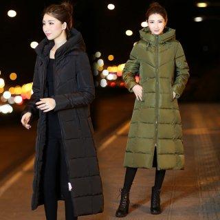 韓国ダウンコート❤首元までスッポリ♪暖かくて綺麗なシルエットのAラインコート