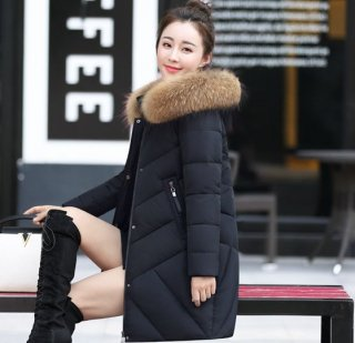 韓国ダウンコート❤少し丸みのあるデザインがオシャレ♪コクーンコート