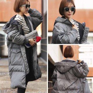 韓国ダウンコート❤羽織れば暖かいから中は薄着で大丈夫♪ロングコート
