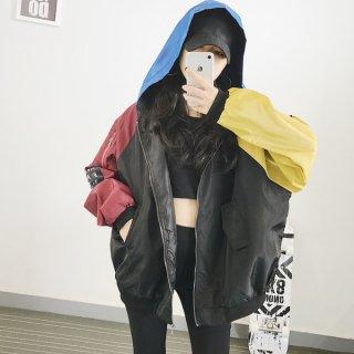 韓国ブルゾン❤フード付きでカラフルだから元気に着たい♪フード付きブルゾン