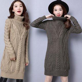 韓国ニット❤パンツと合わせてもワンピースとして着ても可愛い♪ロングニット
