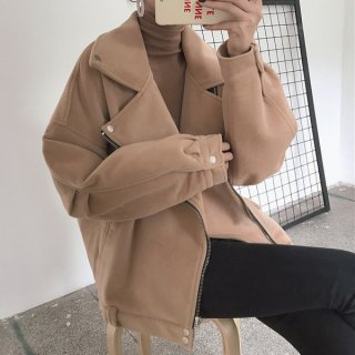 韓国ジャケット❤寒い日でもかっこよく決めたい人に♪ライダースジャケット