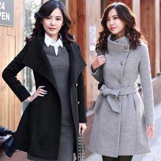 韓国コート❤スタンドカラーで防寒と大人っぽさを♪スタンドカラーコート