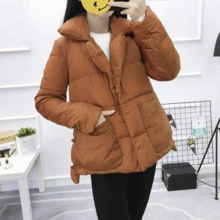 韓国ジャケット❤寒い日だってオシャレは出来る♪ミディアム丈ダウンジャケット