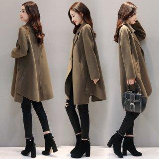 韓国コート❤裾広がりのAラインが綺麗♪大人な雰囲気のチェスターコート