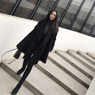韓国コート❤襟のラインが緩やかで綺麗♪カッコイイ着こなしにピッタリのチェスターコート