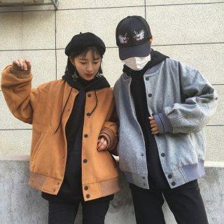 韓国ブルゾン❤秋カラーでカジュアルだけど落ち着いた雰囲気に♪ブルゾンジャケット