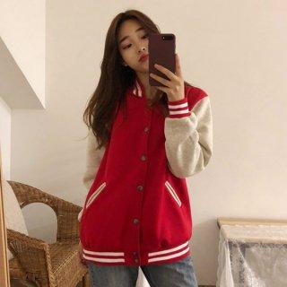 韓国スタジャン❤学生さん、スポーティな可愛いさがでるブルゾン!