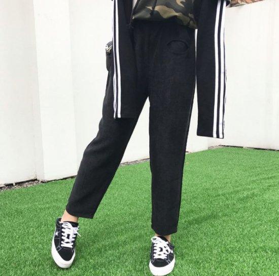韓国パンツのクロップドパンツ