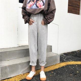 韓国パンツ❤9分丈でカジュアルな大人可愛いパンツ