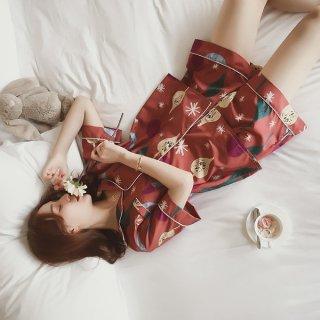 韓国パジャマ❤夏の夜に可愛い柄の半袖半ズボンパジャマ♪