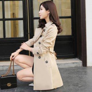 韓国トレンチコート❤上品清楚な感じのキメたい方へのスプリングコート!