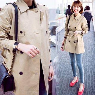 韓国トレンチコート❤カジュアルで可愛い万能にイケるスプリングコート