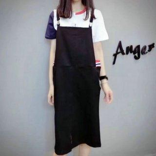韓国セットアップ❤半袖 長ズボン 襟付き デコルテシースルー 透け感 バックボタン 大人