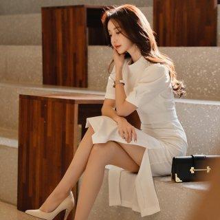 韓国ワンピース❤ドレス ホワイトで大人純白のワンピ