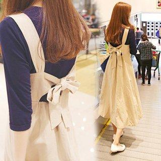韓国ワンピース❤バックリボンの後ろ姿が素敵なお姉さんになっちゃいます!