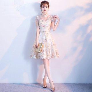 韓国ドレス❤ワンピース 高級なセレブお嬢様ミニワンピパーティードレス!お呼ばれ 二次会など!