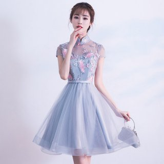 韓国ドレス❤ワンピース 花柄シースルーで襟の形が知的に見えませんか?パーティーにもおよばれにも!