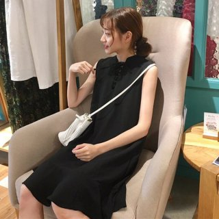 韓国ワンピース❤Iライン体型カバーで可愛い韓国ファッションオルチャンワンピ